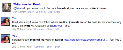 4-8-2009 15-31-46 spreadsheet medical Journals friendfeed