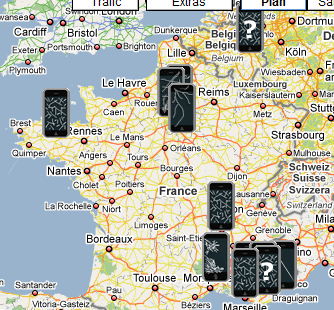 25-9-2009 9-03-53 map of exploding i-phones